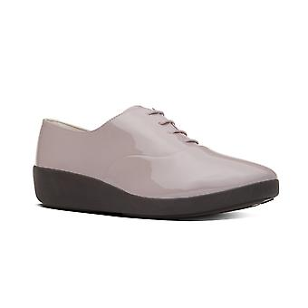FitFlop F Pop Oxford Patent - Plumthistle (rosa) Womens scarpe varie