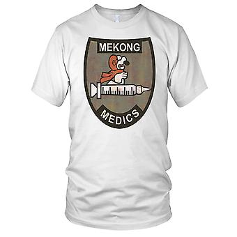 Mekong Medics Vietnma War Patch Grunge Effect Mens T Shirt