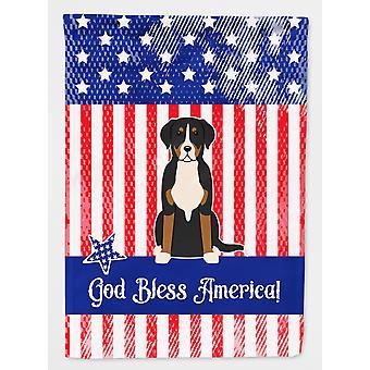 Swiss Mountain Dog Flagge Garten größer patriotische USA