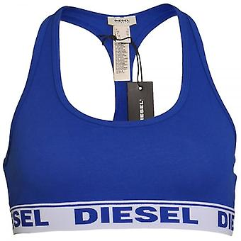 DIESEL Women Miley Cotton Bralette, Blue, Large