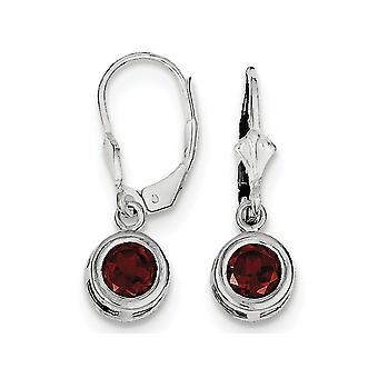Garnet Drop Earrings 2.00 Carat (ctw) in Sterling Silver