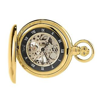 Woodford Albert Skeleton Swiss Pocket Watch - Gold
