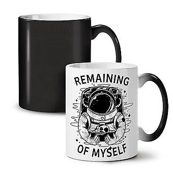 I Am Astronaut NEW Black Colour Changing Tea Coffee Ceramic Mug 11 oz | Wellcoda