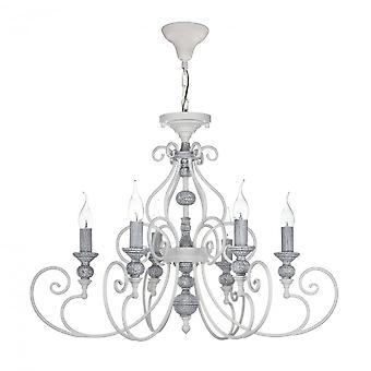 Maytoni Lighting Karina Elegant Collection Chandelier, White