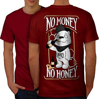 No Money Honey Beer Funny Men RedT-shirt Back | Wellcoda