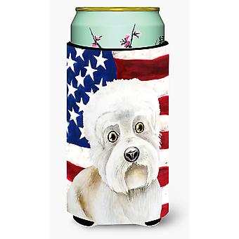 Dandie Dinmont Patriotic Tall Boy Beverage Insulator Hugger