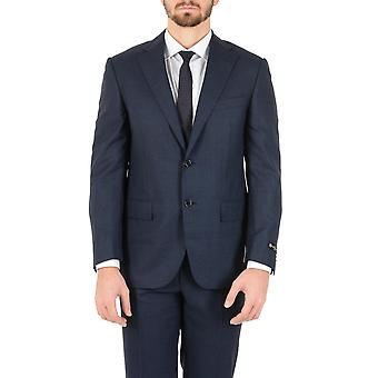 Corneliani Mens Suit Long Sleeves Dark Blue Super 150's