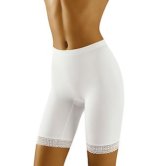 Wolbar Women's Rona White Light Control Slimming Shaping High Waist Long Leg Brief