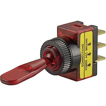 SCI R13-61B ILLUMINATED RED Car Toggle Switch 20A On/Off