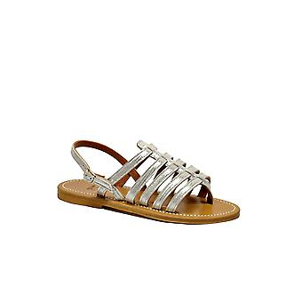 K Jacques women's HOMEREDISCOARGENT silver leather sandals