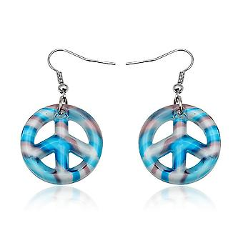 Peace blue glass of Murano earrings