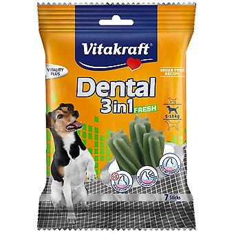 Vitakraft Dental Snacks for Small Dogs 3 in 1 Fresh (Dogs , Treats , Dental Hygiene)