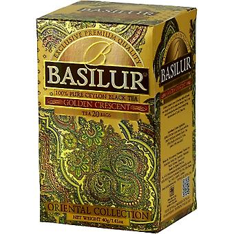 Basilur Tea - Golden Crescent - Black Tea (20 Teabags)