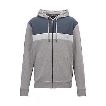 Hugo Boss Leisure Wear Hugo Boss Men's Grey Homeleisure Hooded Sweatshirt