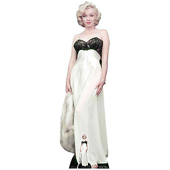 Marilyn Monroe White Gown and Fur Lifesize Cardboard Cutout
