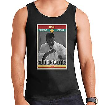 Sporting Legends Poster USA Muhammad Ali The Greatest 1942 Men's Vest