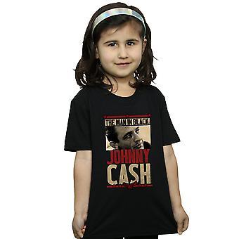 Johnny Cash Girls Man In Black Photo T-Shirt