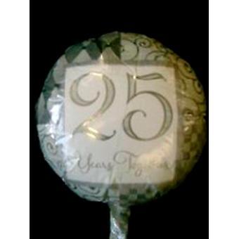 Balão folha de bodas de prata '25 anos juntos'