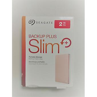 SEAGATE Backup Plus Slim Portable Hard Drive 2 TB - Rose Gold