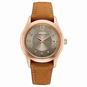 Kenneth Cole New York vrouwen pols horloge analoog kwarts leder 10030801