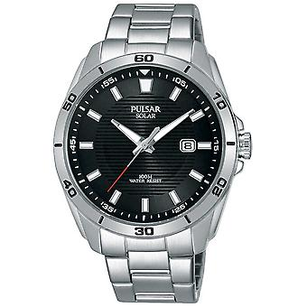 Pulsar Stainless Steel Black Dial Date Display PX3151X1 Watch