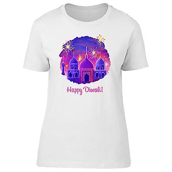 Taj Mahal In Purple And Text Tee Women's -Image by Shutterstock
