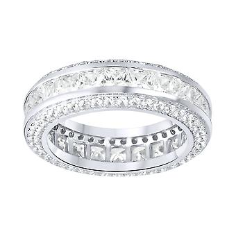 Sterling 925 Silver pave ring - FULL ICED ETERNITY