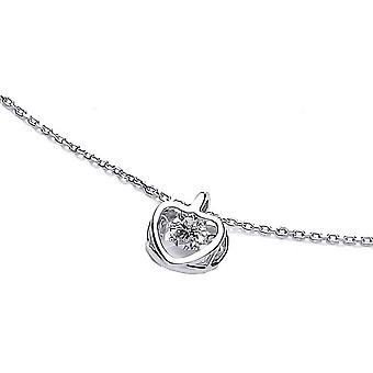 Cavendish French Dancing Heart Necklace - Silver