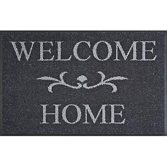 Velkommen hjem antracit 50 x 75 cm vaskbare gulvet måtten vask + tør