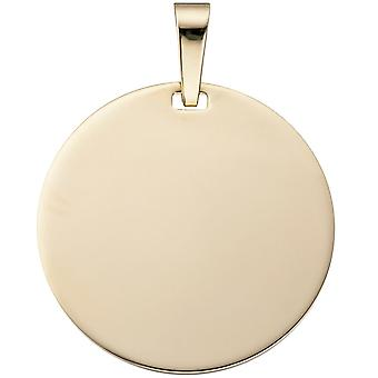 Pendant engraved engraving plate approximately 333 gold yellow gold pendant gold