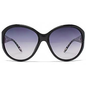 Guess Animal Temple Detail Sunglasses In Black - GU7238 BLK 35