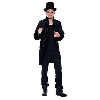 Gothic Mantel schwarz Herren Kostüm Halloween Gruftie