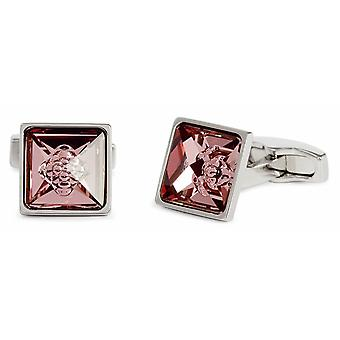 Simon Carter Crystal Bubble Cufflinks - Pink/Silver