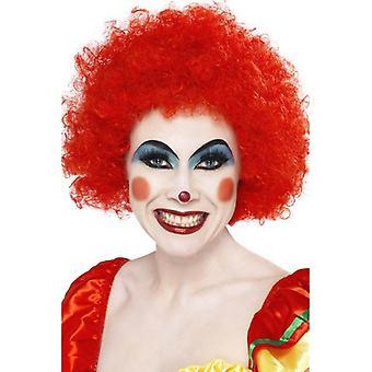 Smiffys kort Afro klovn parykk Circus Fancy kjole tilbehør