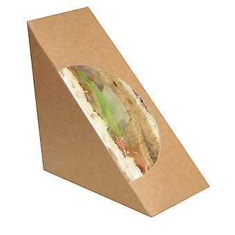 Naturel Standard Kraft aus Pappe braun Sandwich Keil