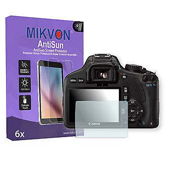 Canon EOS Kiss X4 Screen Protector - Mikvon AntiSun (Retail Package with accessories)