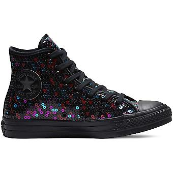 Converse Chuck Taylor All Star Holiday Scene Sequin Hi Trainers
