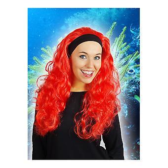 Perücken-Perücke mit langen Haaren und Haarband Jenna Red
