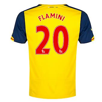2014-15 arsenal bort skjorte (Flamini 20) - barn