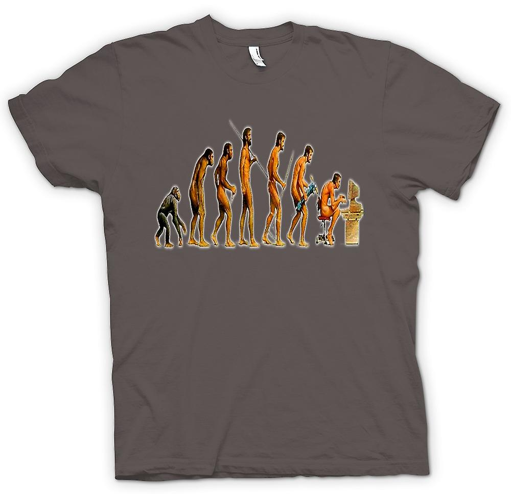 Mens t-shirt - Mans Evolution - divertente