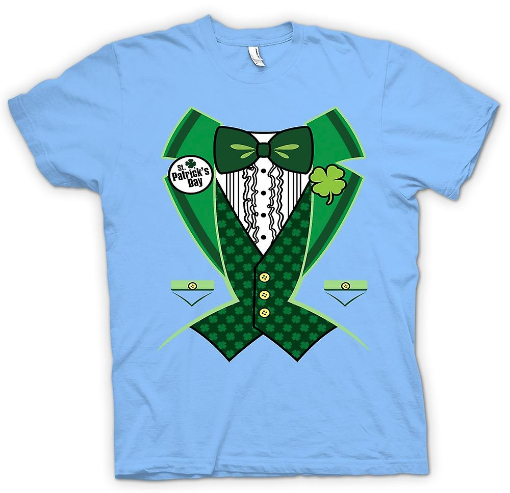 Mens T-shirt - St Patricks Day - Green Tuxedo
