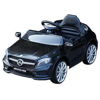 HOMCOM 6V Licensed Mercedes Benz Kids Ride On Car Headlight Music Remote Control Battery Powered High/Low Speed Toy Black