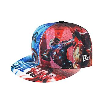 New Era 59Fifty Captain America Civil War All Over Cap Multicoloured