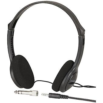 TechBrands Lightweight Heavy Bass Stereo Headphones