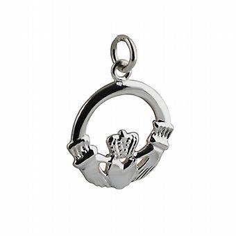Silver 20mm Claddagh Pendant