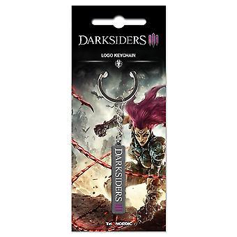 Darksiders Keychain logo plata metal, en la tarjeta de la ampolla.