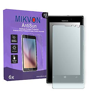 Nokia Lumia 925 Screen Protector - Mikvon AntiSun (Retail Package with accessories) (reduced foil)
