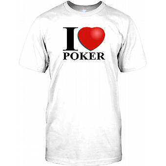 Ich liebe Poker-Herren-T-Shirt