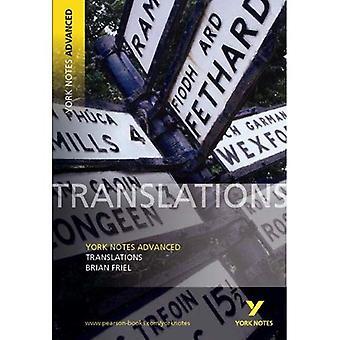 Översättningar av Brian Friel (York Anteckningar Avancerad)