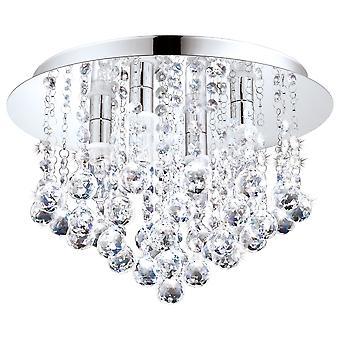 EGLO - Almonte dekorativa Crystal och Chrome badrum tak ljus EG94878